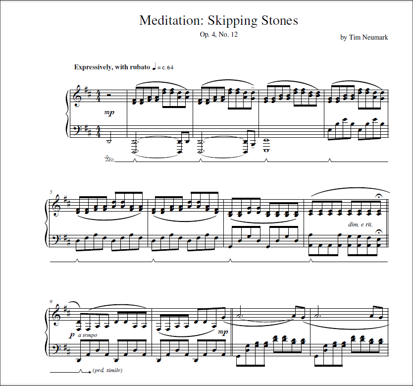 Tims Store Opus Four Sheet Music